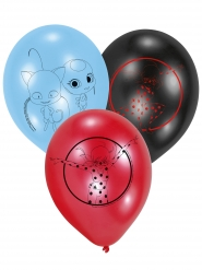 6 Ladybug™ Latexballons 22,8 cm rot, blau, schwarz