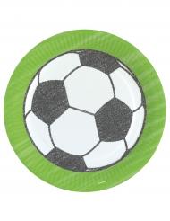 Fußball-Pappteller für Sportevents Party-Zubehör 8 Stück bunt 23 cm