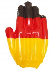 Aufblasbare-Hand Deutschland-Fanartikel schwarz-rot-gold 43x30cm