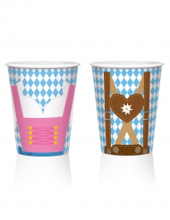 Set aus 8 Oktoberfest-Trinkbechern (250 ml)