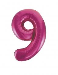 Folienballon Nummer 9 pink Partyzubehör