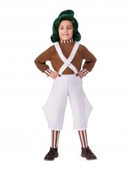Oompa Loompa™-Charlie und die Schokoladenfabrik Kostüm für Kinder weiss-braun