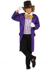 Willy Wonka™-Kinderkostüm aus Charlie und die Schokoladenfabrik schwarz-lila