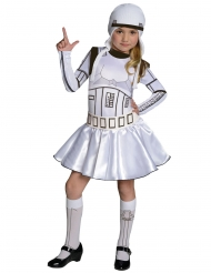 Stormtrooper™-Lizenzkostüm für Mädchen weiss-schwarz