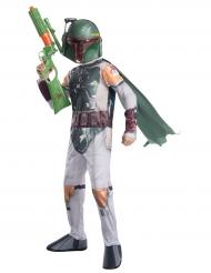 Boba Fett™-Lizenzkostüm für Kinder Star Wars™ weiss-grün-gold