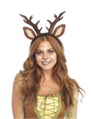 Rehkitz-Haarreif für Damen Kostüm-Accessoire Karneval braun