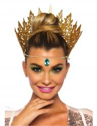 Majestätische Krone für Damen Kostümzubehör gold