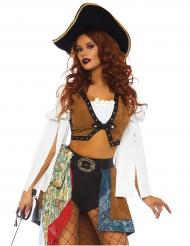 Verführerische Seeräuberin Damenkostüm Piratin bunt