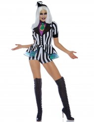 Miss-Beetle Damenkostüm Halloween schwarz-weiss
