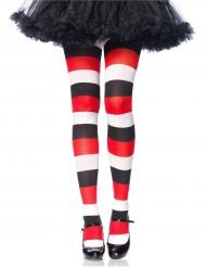Gestreifte Strumpfhose Kostüm-Zubehör Halloween 80 DEN bunt
