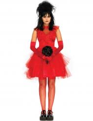 Verführerische Gothic-Braut Halloween-Damenkostüm rot