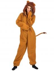 Wilde Löwin Damenkostüm Tier-Verkleidung braun