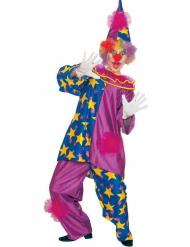 Lustiges Clownkostüm für Herren bunt