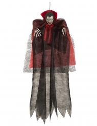 Vampir-Hängedekoration Halloween schwarz-rot 1,20m