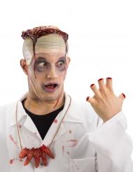 Abgehackte Finger-Halskette Halloween Accessoire rot