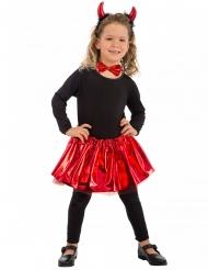 Teuflisches Kostüm-Set für Mädchen schwarz-rot