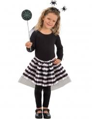 Halloween Kostüm-Set Spinne für Mädchen schwarz-weiss