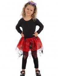 Spinnen-Petticoat Halloween-Kostümzubehör rot-schwarz