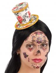 Mini Hut für Damen Dia de los Muertos Halloween