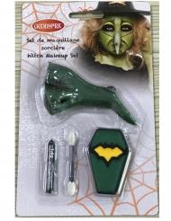 Schmink-Set für kleine Hexen Halloween-Make-up 4-teilig grün-gelb-schwarz