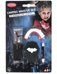 Vampir Schminkset mit Gebiss und Kunstblut