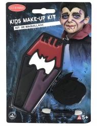 Vampir-Schminke für Kinder Halloween-Make-up 3-teilig schwarz-rot