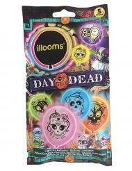 5 LED Luftballons Dia de los Muertos Illooms™