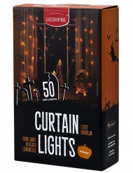 LED-Girlande für Halloween mit 50 LED-Lampen orange