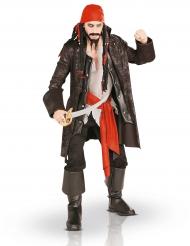 Deluxe Piraten-Kostüm für Herren braun-rot