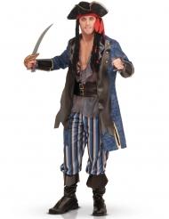 Deluxe Piraten-Kostüm für Herren grau blau