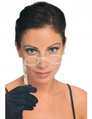 Retro-Brille für Erwachsene gold