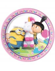 Minions™-Pappteller Kindergeburtstag 8 Stück bunt 23 cm