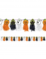 Kinder Halloween-Girlande Raumdekoration orange-schwarz-weiss 2,4m