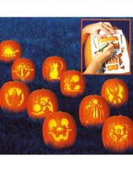 Kürbis-Schablonen-Set für Halloween 10 Stück 27x19cm