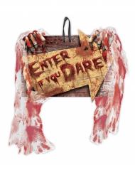 Blutiges Halloween-Schild bunt 23 x 29 cm