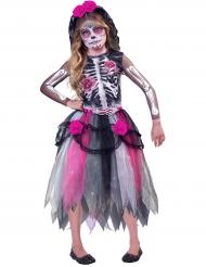 Entzückendes Tag der Toten-Kinderkostüm Halloween bunt
