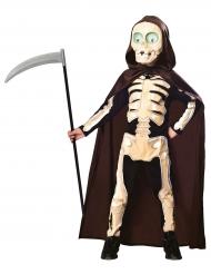 Sensenmann-Kinderkostüm Skelett-Verkleidung schwarz-beige