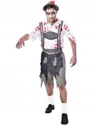 Zombiehaftes Oktoberfest-Besucherkostüm für Herren Halloween bunt