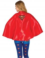 Supergirl™-Umhang für Kinder Kostümzubehör rot-gelb