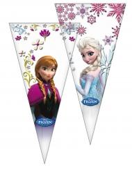 Frozen™ Elsa Geschenktüten für Süßigkeiten 10 Stück bunt 30x60cm