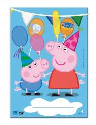 Peppa Wutz™-Taschen Geschenktüten Kindergeburtstag bunt 10 Stück 17x25cm