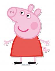 Peppa Wutz™-Wanddekoration Partyzubehör für Kinder 2 Stück rosa-rot 30cm