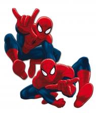 Spiderman™ Wanddekoration Lizenz-Partyzubehör 2 Stück blau-rot 30cm