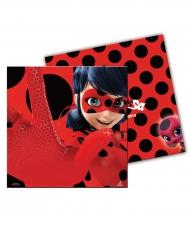 Ladybug™-Lizenzprodukt Servietten 20 Stück rot-schwarz 33x33cm