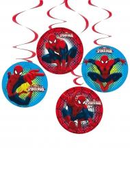 Spiderman™-spiralförmige Girlanden Raumdekoration 4 Stück bunt