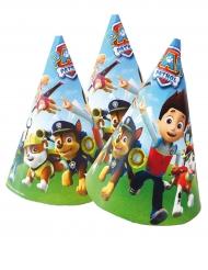 Paw Patrol™ Geburtstags-Hüte für Kinder Partyzubehör 6 Stück 16x11cm