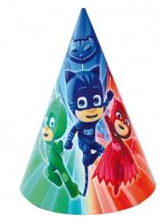 PJ Masks™-Partyhüte für Kinder Partyzubehör 6 Stück bunt 16x11cm