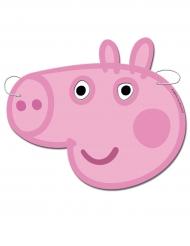 Peppa Wutz™-Masken für Kinder Geburtstagsparty 6 Stück rosa