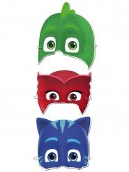 PJ Masks™ Masken für Kinder Partyzubehör 6 Stück rot-blau-grün