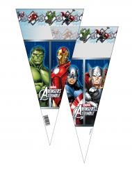 Avengers™-Süßigkeiten-Tüten Kindergeburtstag 6 Stück bunt 20x40cm